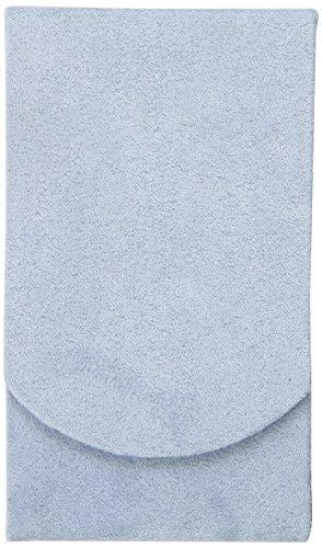 (Boston International Light Blue Faux Suede Pocket Tissue Holder)