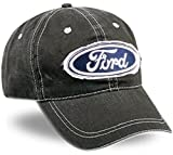 Ford Fabric Patch Dark Grey Cotton Cap