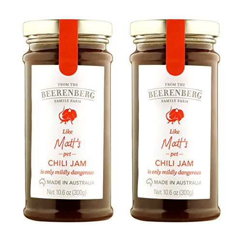 Beerenberg Sweet and Savory Chilii Jam, Medium Heat, Two, Eight Ounce Jars ()