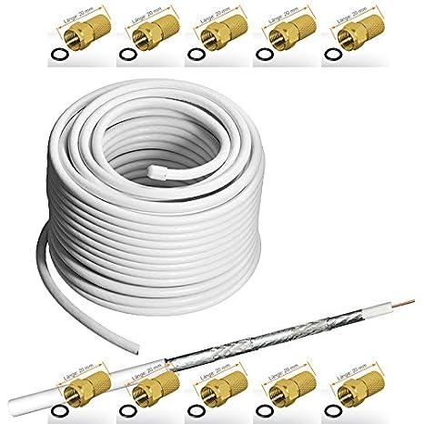 135 dB 50 m - Cable coaxial apantallado, 5 de para Ultra HD ...