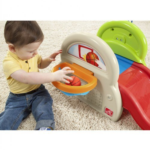 Step 2 Sports-Tastic Activity Center for Toddlers, Durable Outdoor Slide and Climber with Ball Game Accessories, Multicolor by Step2 (Image #3)