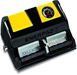 Enerpac XA-12VG Double-Acting Air-Driven Foot Pump with 2 L Usable Oil Capacity and Gauge