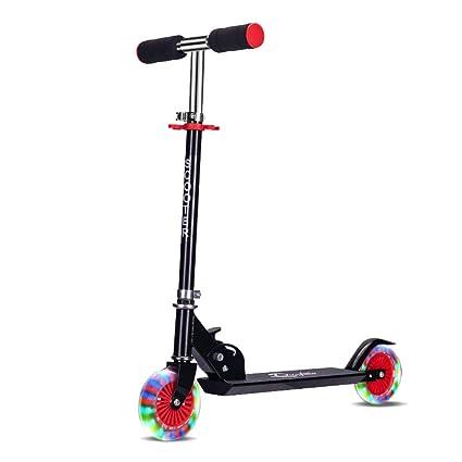 Zhangcaiyun Scooter Scooter Ajustable de 2 Ruedas con Ruedas ...