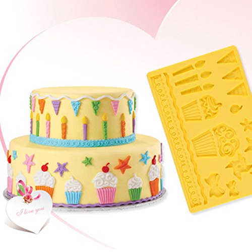 Unrivaled Popular Silicone Mold Icecream Star Candle Decorating Cake Tools Chocolate Candy Ice Cupcake Vintage Kit Muffin Cream Shape Toppers Tool Gift Wedding Christmas Birthday Anniversary Topper