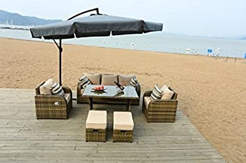 lotus rattan garden furniture-set di sedie per tavolo da veranda ... - Divano Per Veranda