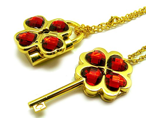 [Shugo Chara! / Guardian Characters! Necklace with Dark Red Gem Key Lock Pendant] (Dark Shadows Halloween Costumes)