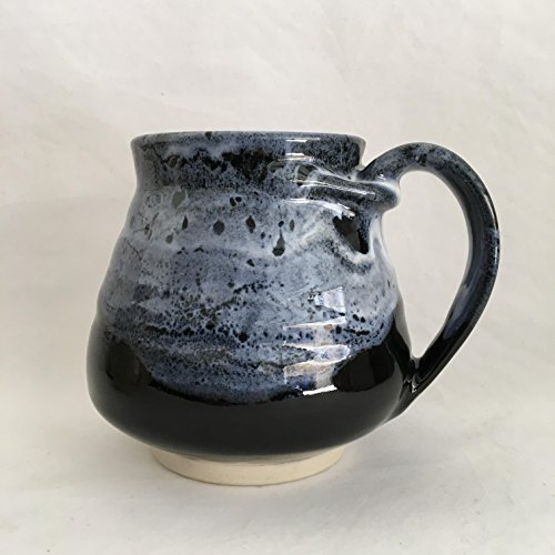 Extra Extra Large Handmade Coffee Mug, Black Coffee Mug, Pottery Mug 24 OZ XXL17BM6