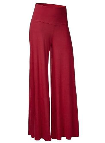 Nergivep - Pantalón - para mujer Rojo Vino Rojo XXX-Large