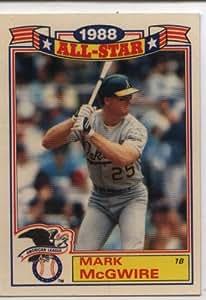 Amazon Com 1989 Topps Mark Mcgwire All Stars Card