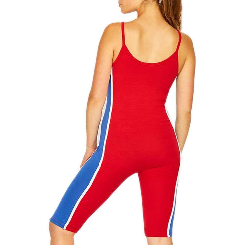c63498f5b81cb6 ellesse Tyrola Jumpsuit Damen Rot 38 S (Small)  Amazon.de  Bekleidung