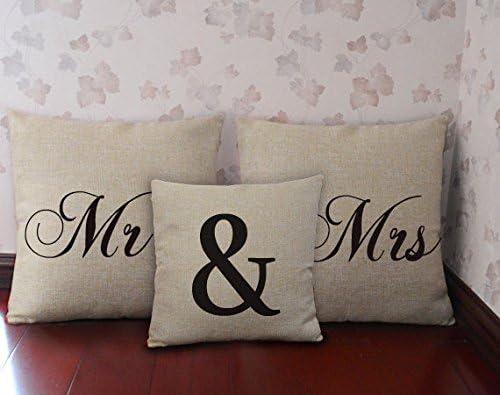 Amazon.com: yohoba Mr y Mrs almohada, Mr y Mrs fundas de ...