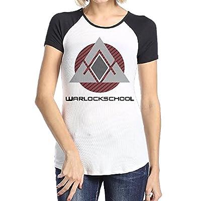 LOVEGIFTTO LADY Womens Warlock School Original O-Neck Short Sleeve Raglan Tee Shirt