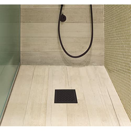 QM Square Shower Drain, Base And Grate Made Of 100% Stainless Steel Marine  316