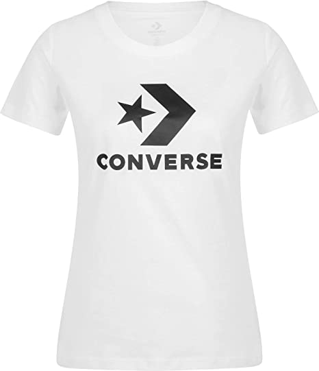 Converse Star Chevron Core W T Shirt Optical White: Amazon