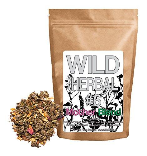 Linden Lemon Tea (Wild Herbal Tea #6 Mother Blend by Wild Foods - 9 Ingredient Tea with Raspberry Leaf, Linden, Lemon Verbena, Rose, Cinnamon, Stevia, 100% Natural (4 ounce))