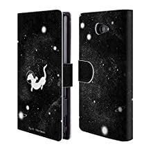 Official Tobe Fonseca Otter Space Space 2 Leather Book Wallet Case Cover For Sony Xperia M2