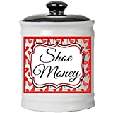 Cottage Creek Shoes Piggy Bank Round Decorative Shoe Money Jar/Coin Bank for Shoes Gifts for Women [White]