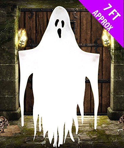 Large 7FT Hanging Ghost Halloween Decoration Scream Machine