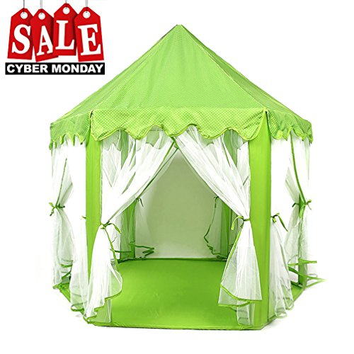 Play Tent Child Princess Castle Indoor and Outdoor Large Play House Game House, Green