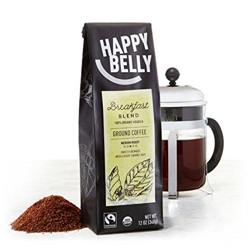 Amazon.com : Happy Belly Breakfast Blend Organic Fairtrade Coffee ...