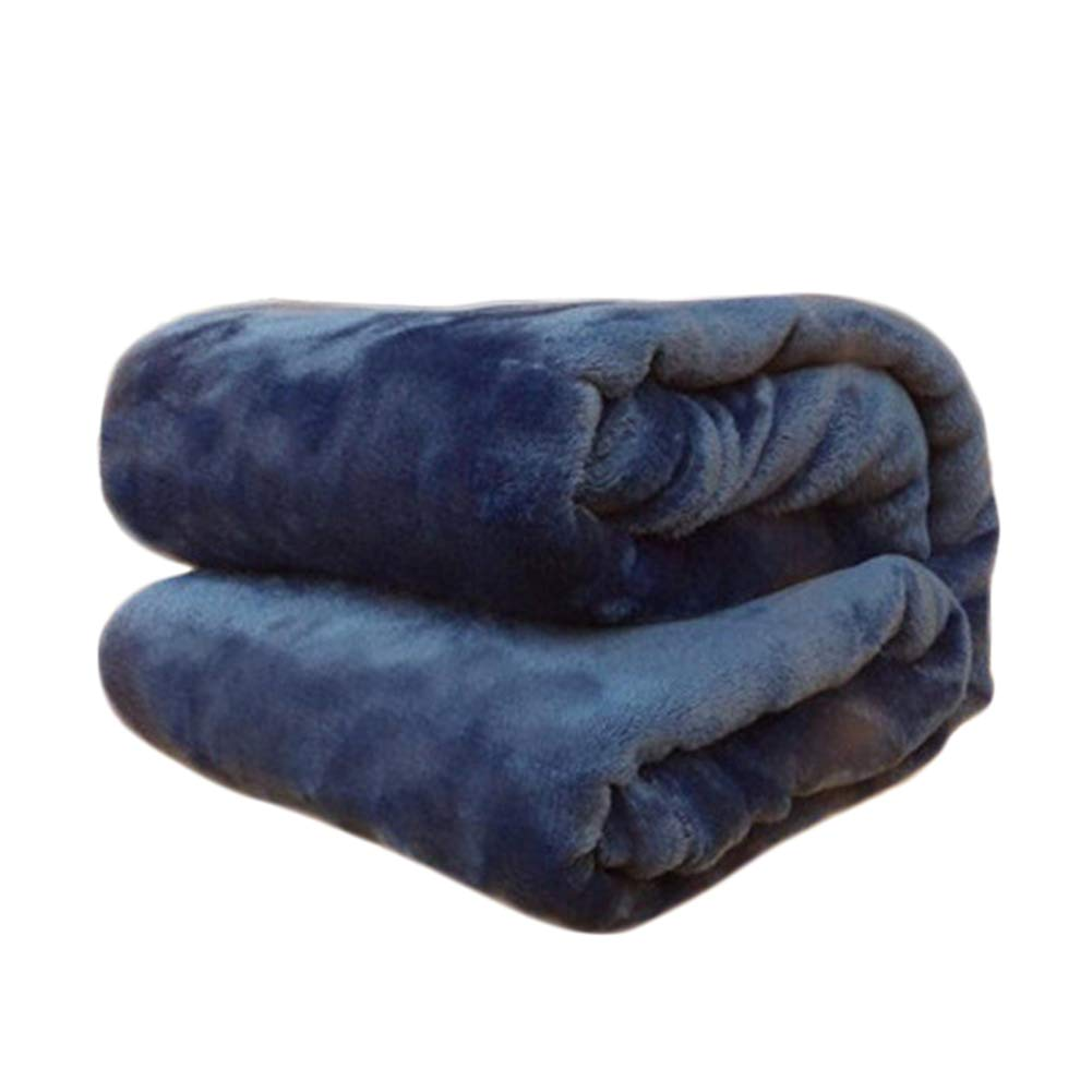 70CM TREESTAR Mantas de beb/é para ni/ños oto/ño e Invierno beb/é reci/én Nacido Copo de Nieve peque/ña Manta de Pelo Manta de Siesta Size 50 Deep Blue