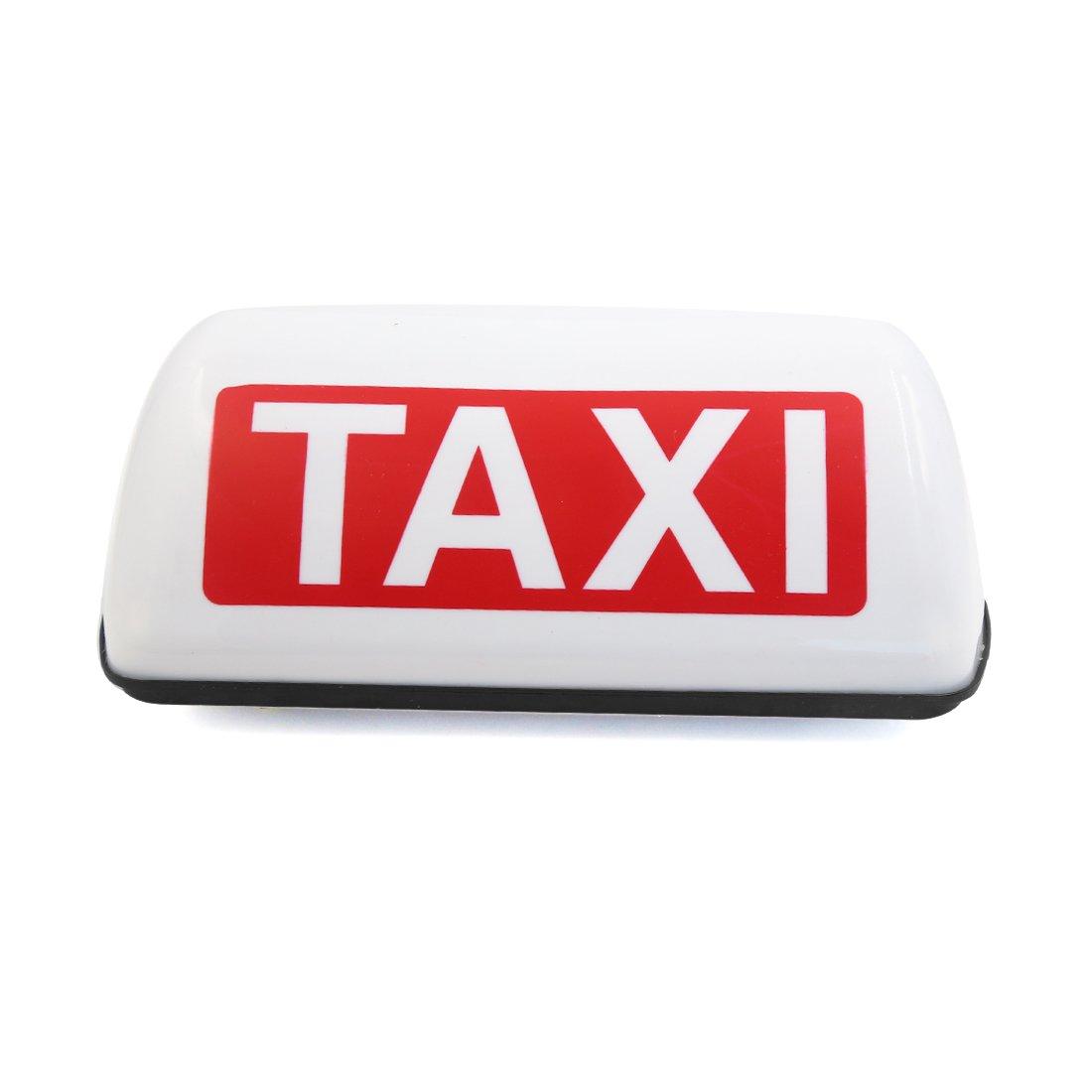 sourcingmap Taxi Coche Bombilla base magné tica amarillo lá mpara Luz de techo 12V a16081500ux0648