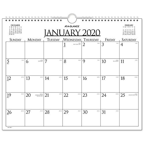 - AT-A-GLANCE 2020 Monthly Wall Calendar, 15