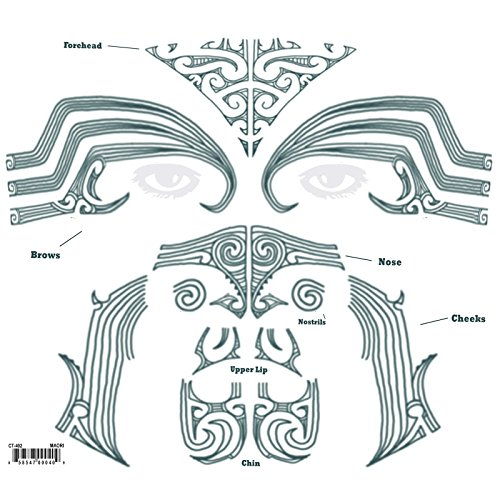 Tinsley Transfers  Maori Kit, Flesh/Multi, One Size