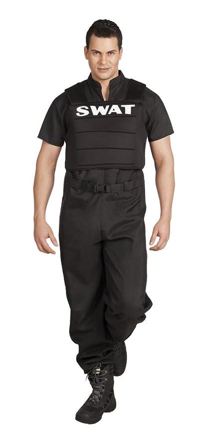Boland – Agente Especial SWAT disfraz para adultos, Negro, L (54 ...