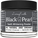 Black Pearl Activated Charcoal Toothpaste Teeth Whitening - Organic & All Natural - Remineralizing Tooth Powder - Anti-Bacterial - Made In USA - Glass Jar