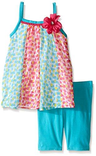 Youngland Little Girls' Multi Colored Panel Chiffon Top w...