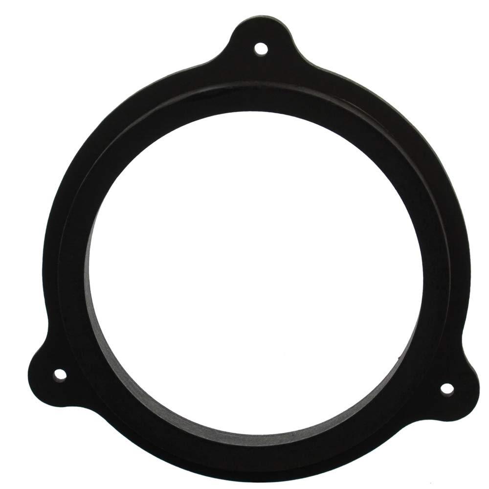 porta dingresso Trafic Colore: nero 1 coppia 165 mm MDF Speaker Adattatore compatibile con Renault Master impregnato resistente alle intemperie