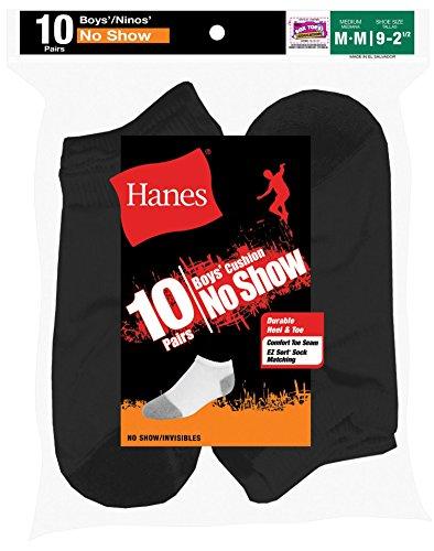 Hanes Boys No Show Socks, Pack 10