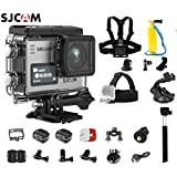 SJCAM SJ6 Kit Including Extra Battery, 5-in-1 Accessories SJ6 LEGEND Dual Screen 2″ LCD Touch Screen 2880×2160 Novatek NT96660 Panasonic MN34120PA CMOS 4K Ultra HD Sport DV Action Camera- Silver