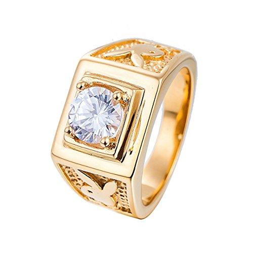 925845ca5d42 Outlet Taizhiwei diamante circonita titanio acero inoxidable anillos talla anillo  compromiso boda matrimonio joyeria dorados hombre