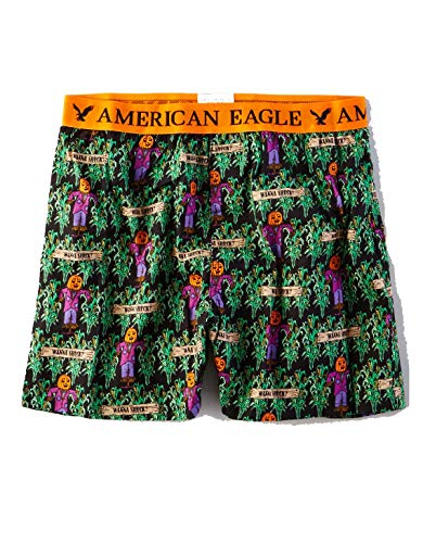American Eagle Outfitters AEO Men's Halloween Wanna Shuck Boxer Shorts XX-Large Black from American Eagle