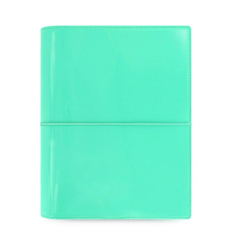 colore Turchese Organiser Filofax A5 Domino Patent
