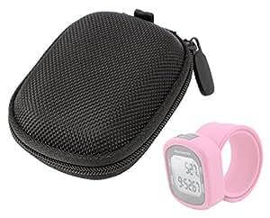 DURAGADGET Hard EVA Protective Storage Case/Bag in Black For Smartfly Silicon Pedometer Watch