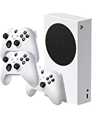 Microsoft RRS-00001 Xbox Series S 512 GB SSD All Digital, Disc-Free Gaming Console, White and Three Xbox Wireless Controller - Robot White
