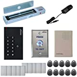 Visionis FPC-5326 One door Access Control Outswinging door 600lbs Maglock with VIS-3002 Indoor Use only Keypad / Reader Standalone no software EM Card Compatible 500 users kit