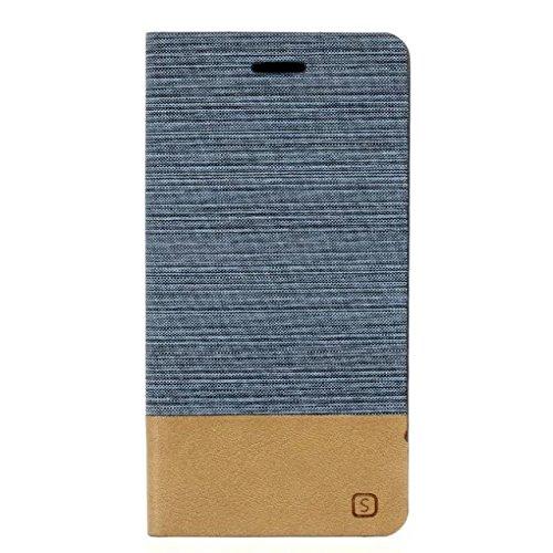SRY-Funda móvil Samsung Samsung J7 (2016) Funda de la caja Funda de la serie de la lona del color mezclado Funda de cuero de la PU superior Funda de la cartera Funda de soporte Flip Funda protectora p 1