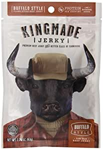 Kingmade Jerky Buffalo Style Flank Steak Beef Jerky, 2.25 Ounce by Kingmade Jerky