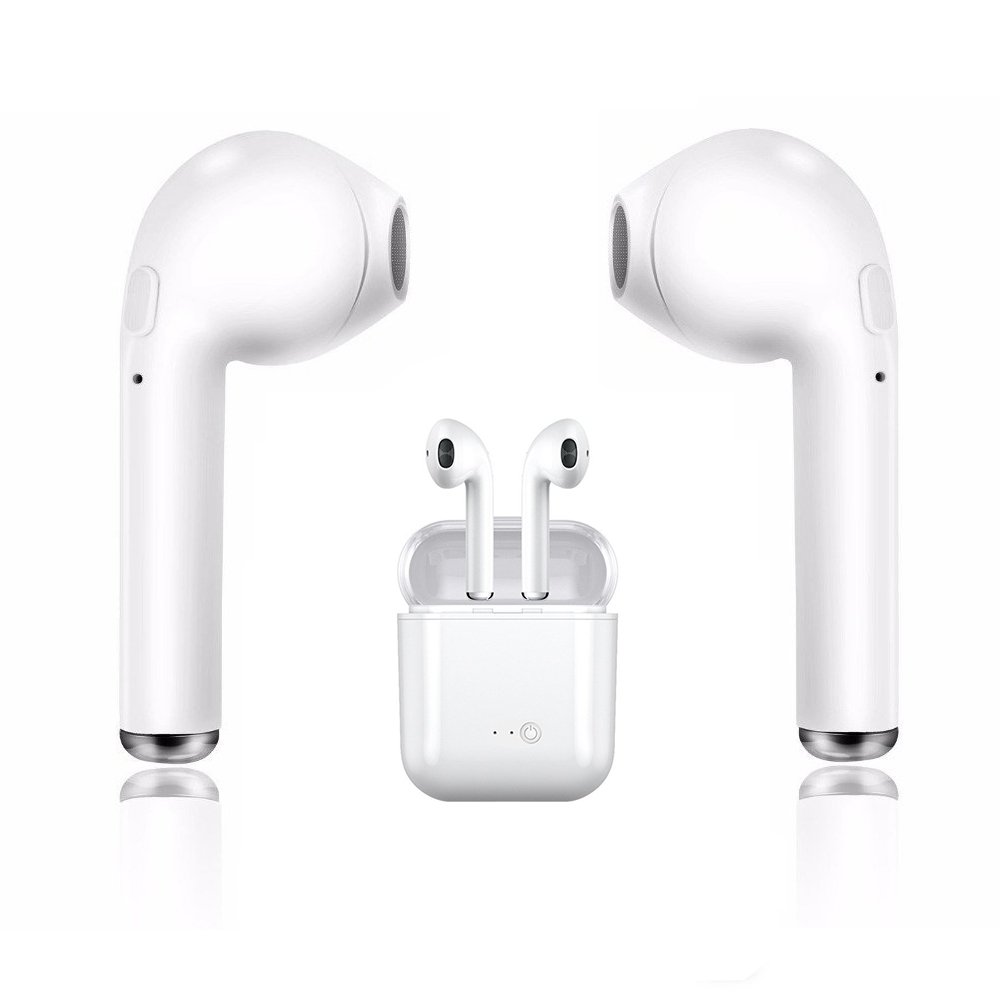 Bluetooth headset, TJSDAN wireless headset/sports headset sweat-proof headset wireless earbuds mini in-ear earbuds, with noise reduction charging shell, suitable for Android and other smart phones
