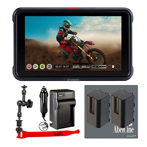 Atomos Ninja V 5'' Touchscreen Recording Monitor, 1920x1200, 4K HDMI Input + Abelcine Accessory Kit, Includes 7'' Magic Arm, 2X NP-F770 Batteries, Abelcine Cleaning Cloth and Cable Tie by Abelcine (Image #6)