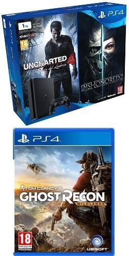 PlayStation 4 Slim (PS4) 1TB - Consola + Uncharted 4 + Dishonored 2 + Ghost Recon Wildlands: Amazon.es: Videojuegos