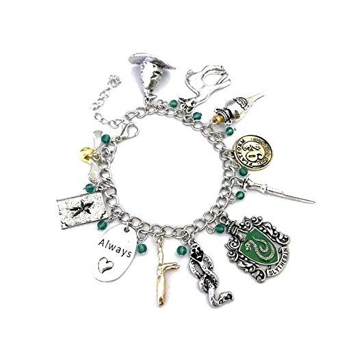 Ivy & Clover HP Inspired Horcrux Slytherin Crest Charm Bracelet