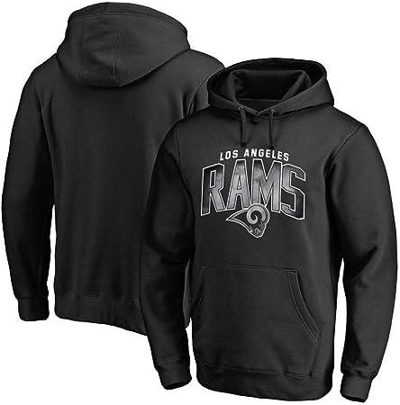 NFLSWER Sudadera con Capucha de Los Angeles RAMS Jersey de fútbol con Capucha cómodo Calle Camiseta de la Moda Casual Chaqueta de la Camisa Ropa de la Aptitud Jersey