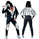 "Kiss Glam Rock Male Fancy Dress Costume (Chest 46-48"")"