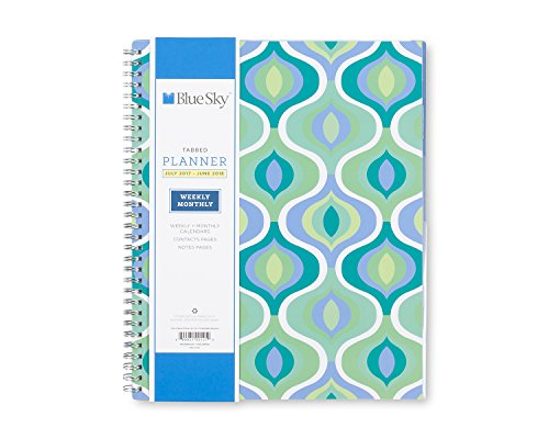 Blue Sky 100121 2017-2018 Academic Year Weekly & Monthly Planner, Twin-Wire Bound, 8.5