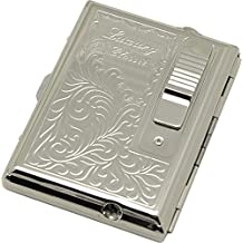 Legendex Elegance Metal Cigarette Case Built-In Turbo Lighter 06-30-101